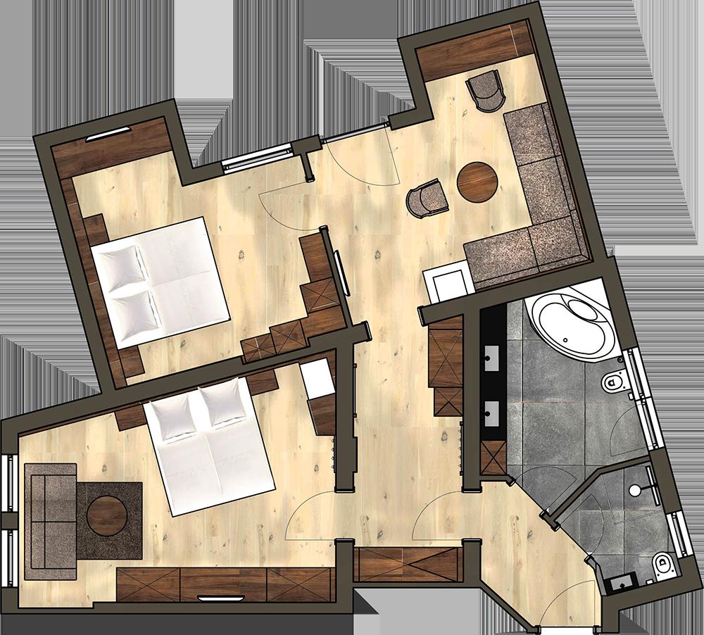 4 Sterne Hotel Albona Ischgl - Albona Suite Grundriss